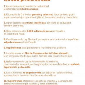 Ciudadanos se compromete a impulsar diez medidas clave durante los primeros 100 días de gobierno