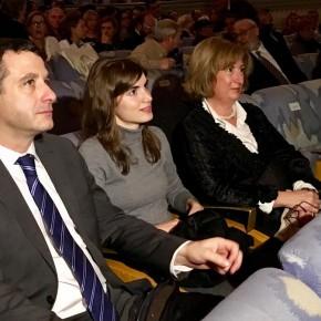 Isabel M. De Eugenio y Esteban Paños, en la VI gala de los Premios Populares COPE Castilla- La Mancha