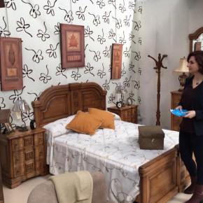 Orlena de Miguel, en la Feria Regional del Mueble de Sonseca