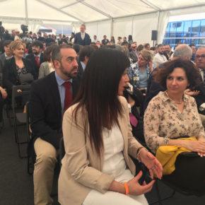 Orlena De Miguel, en la inauguración de la nueva planta farmacéutica del Grupo Chemo