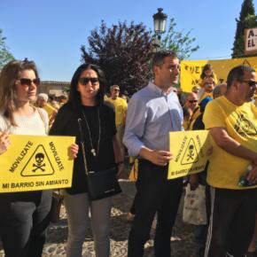 El grupo municipal Cs se une a la concentración vecinal para exigir la retirada del amianto en Toledo