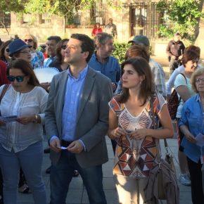 Paños y M. de Eugenio participan en la concentración por el Tajo
