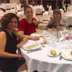 Orlena De Miguel, en la cena solidaria de la Asociación Española contra el Cáncer en Guadalajara