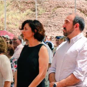 Orlena De Miguel y Antonio De Lamo, con los vecinos de Molina de Aragón en la Loa de la Virgen de la Hoz