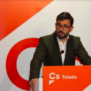 El grupo provincial de Cs Toledo, Luis  Martin, ha explicado las propuestas de la formación naranja a los presupuestos provinciales
