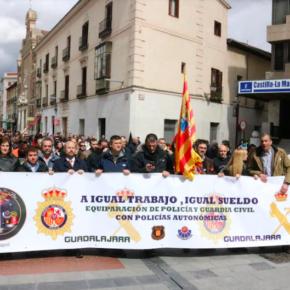 Cs Guadalajara apoya la equiparación salarial de los cuerpos policiales