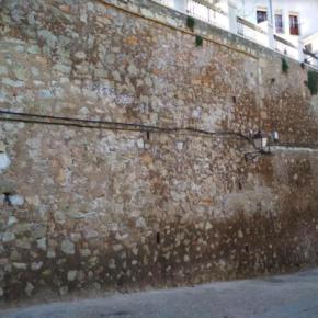 Cs hace responsable al equipo de Gobierno de cualquier accidente que pudiera provocar las filtraciones del muro del Jardín de los Poetas