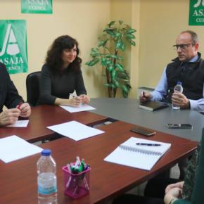 Cs C-LM se reúne con ASAJA Cuenca para hablar de los principales desafíos de la agricultura en la provincia y la región