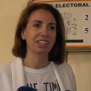 """Úrsula López: """"Hoy voto con mucha ilusión, con mucha responsabilidad y con un gran compromiso con Ciudad Real"""""""