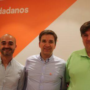 Rafael Pérez Borda, Israel Marco y Fernando Parlorio forman el grupo municipal de Cs en el Ayuntamiento Guadalajara