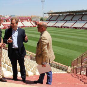 El Ayuntamiento de Albacete trabaja ya en mejorar el mantenimiento, la seguridad y la accesibilidad en el Estadio Carlos Belmonte